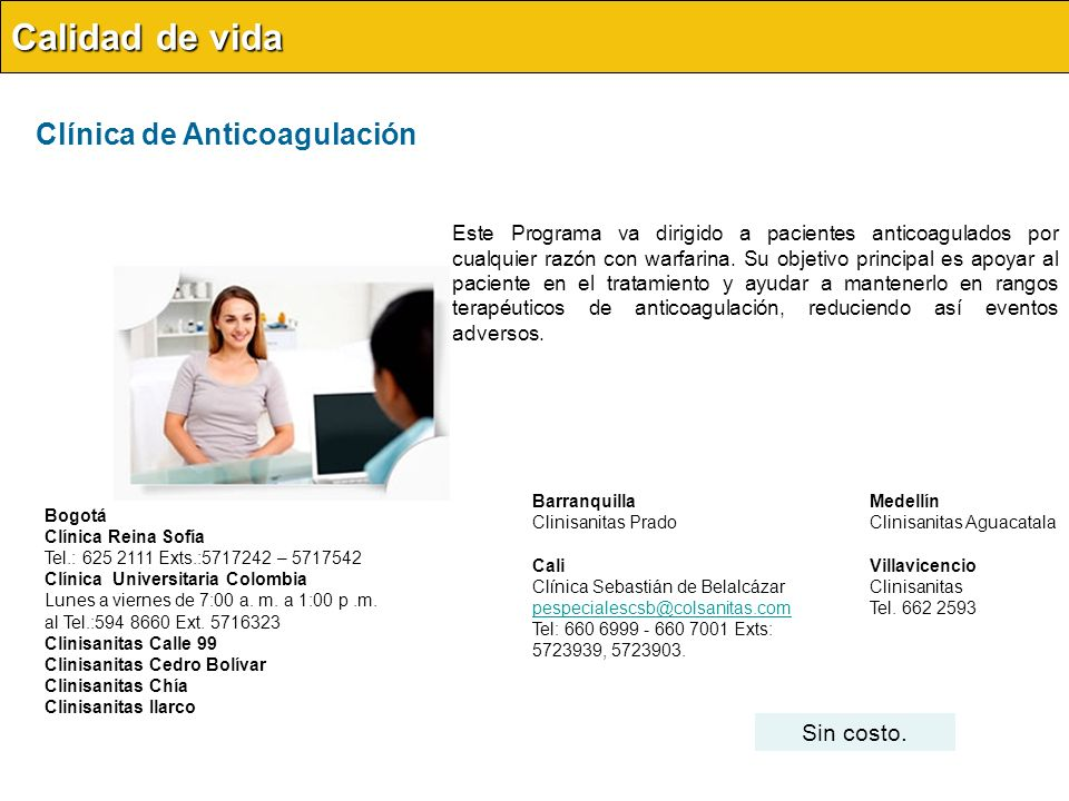 Lactancia Materna Materno infantil Acceso al servicio Este servicio se presta en Bogotá en la Clínica Reina Sofía.