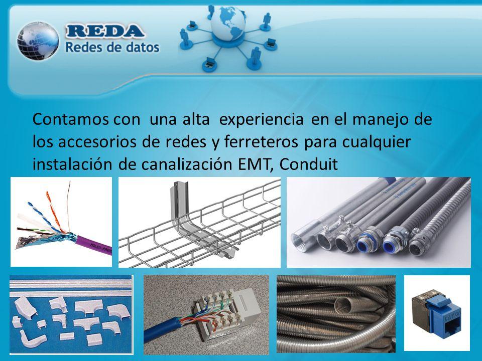 Contamos con una alta experiencia en el manejo de los accesorios de redes y ferreteros para cualquier instalación de canalización EMT, Conduit