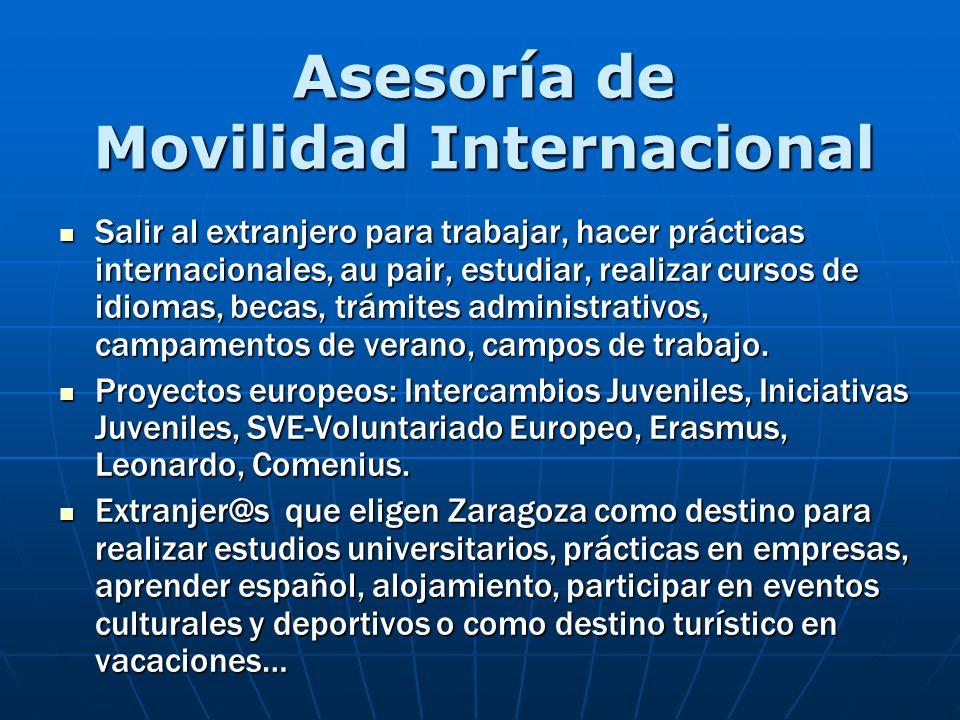 Asesoría de Movilidad Internacional Salir al extranjero para trabajar, hacer prácticas internacionales, au pair, estudiar, realizar cursos de idiomas,