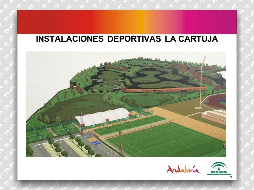 INSTALACIONES DEPORTIVAS LA CARTUJA ESPACIOS DEPORTIVOS (II): Golf: Campo de golf de 9 hoyos (2 par 4 y 7 par 3).