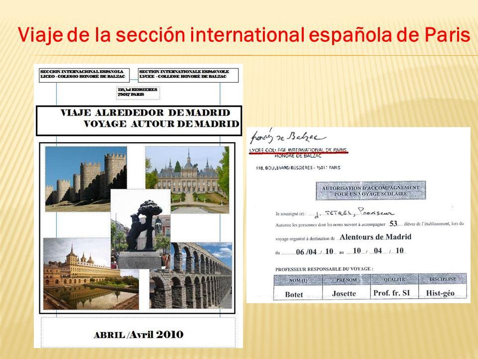 Viaje de la sección international española de Paris