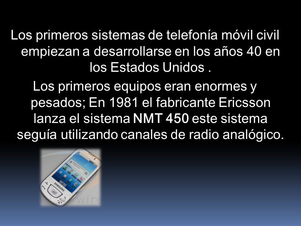 Los primeros sistemas de telefonía móvil civil empiezan a desarrollarse en los años 40 en los Estados Unidos.
