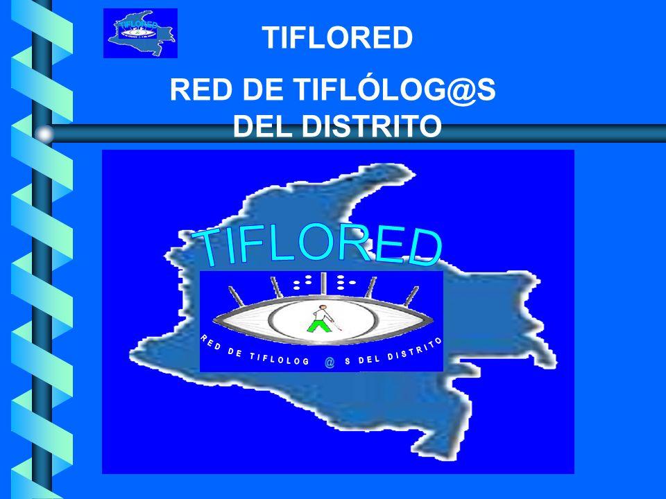 TIFLORED RED DE TIFLÓLOG@S DEL DISTRITO DOCENTES De área y Tiflología DIRECTIVAS GRADO O CICLO PADRES DE FAMILIA ESTUDIANTES INSTITUCIÓN EDUCATIVA