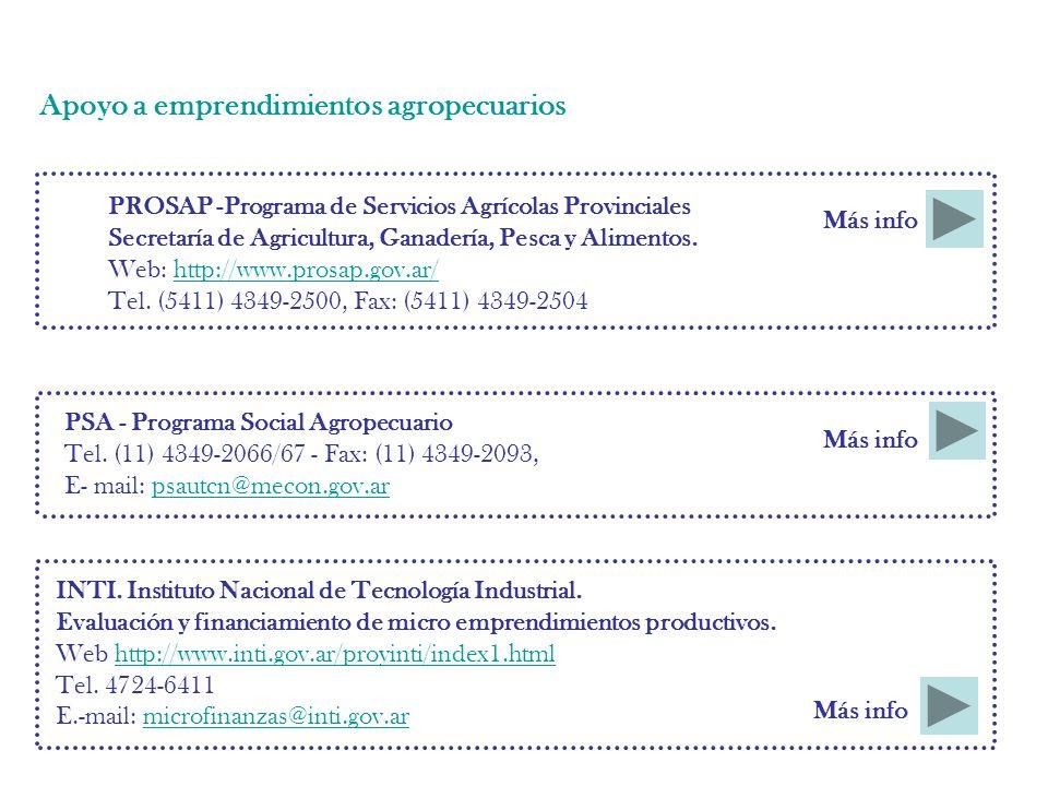 PROSAP -Programa de Servicios Agrícolas Provinciales Secretaría de Agricultura, Ganadería, Pesca y Alimentos.