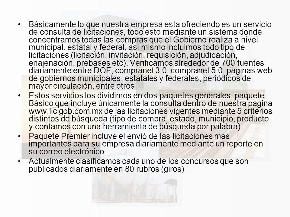 Ventajas y Comparativos con Compranet 1..
