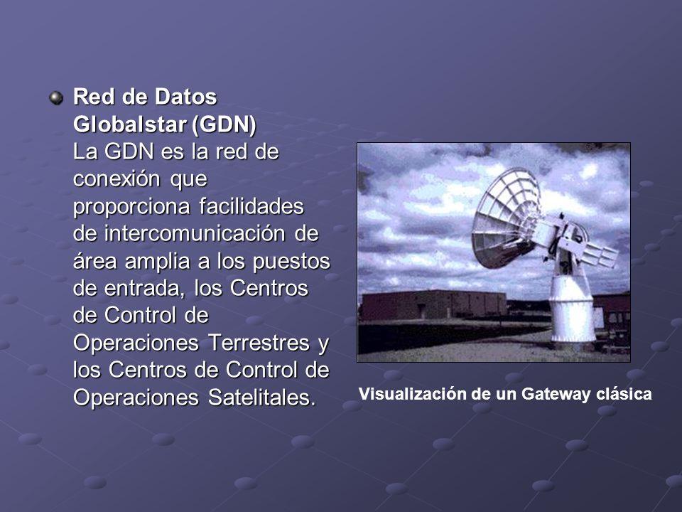 Red de Datos Globalstar (GDN) La GDN es la red de conexión que proporciona facilidades de intercomunicación de área amplia a los puestos de entrada, l