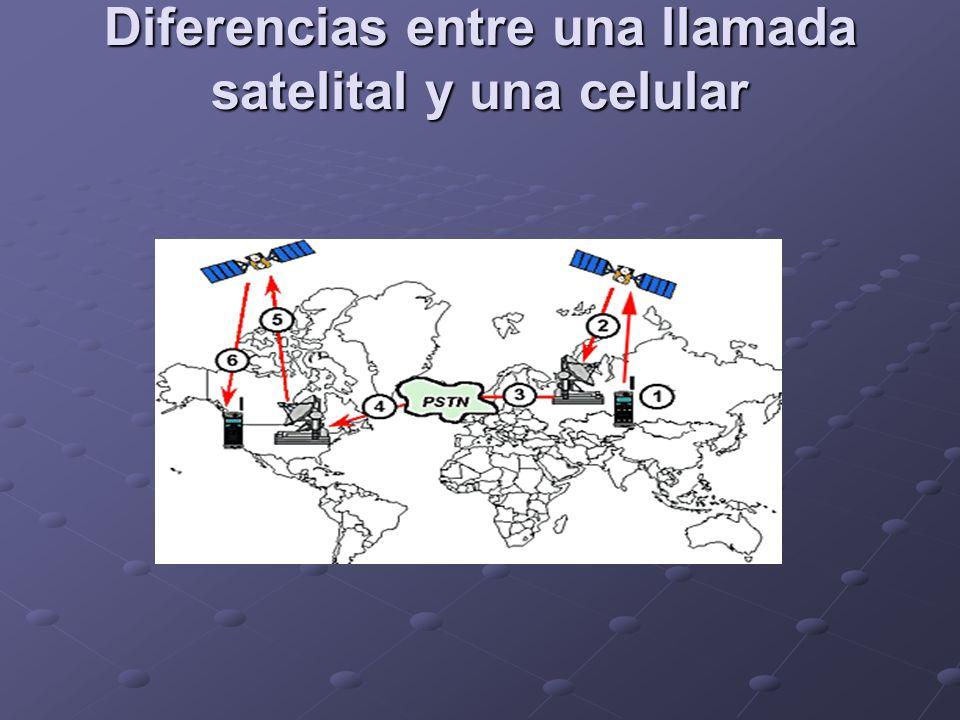 Diferencias entre una llamada satelital y una celular