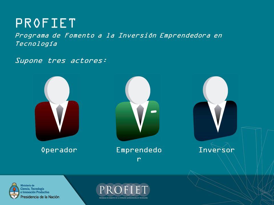 OPERADOR El operador para el programa es fiduciario - Su función es habilitada por el Ministerio, con el que se vincula contractualmente.