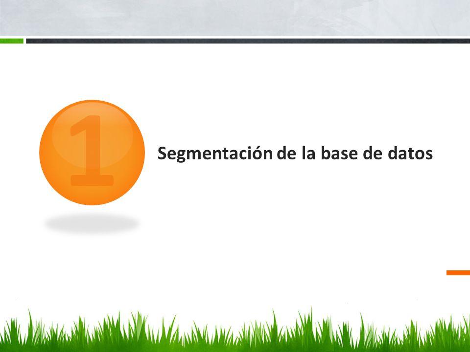 Para segmentar la base de datos de clientes accederemos al menú Marketing Avanzado a través del incono situado en la barra de menús de la parte superior o de la opción Marketing situado a la izquierda de la pantalla.