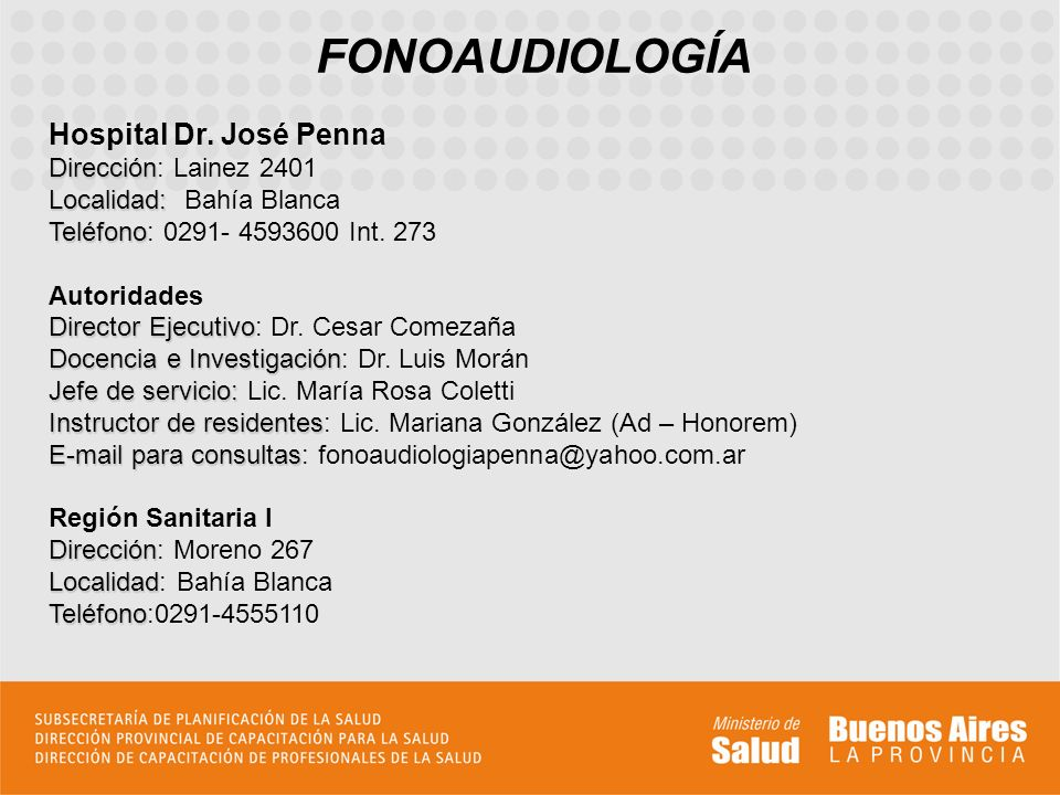 FONOAUDIOLOGÍA Hospital Dr.