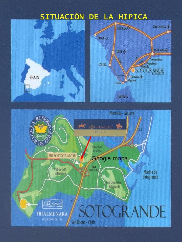 Google mapa SITUACIÓN DE LA HIPICA