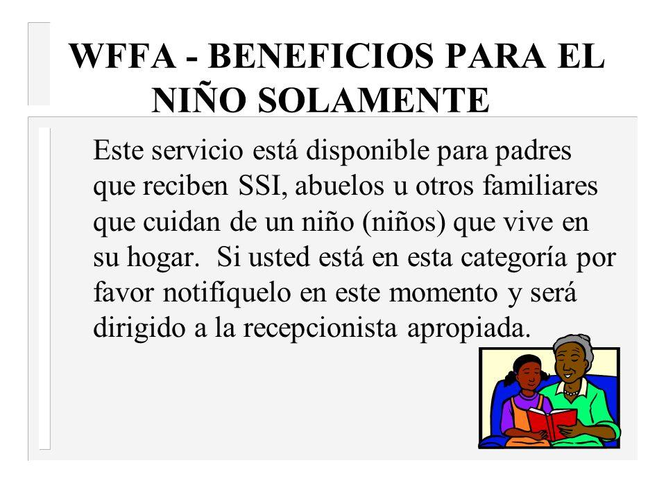 Abuso de Sustancias Controladas / Alcohol Requisitos de Evaluación n Si usted decide solicitar asistencia económica TANF/WFFA es un requisito que usted sea evaluado en relación al uso o abuso de sustancias controladas/alcohol.