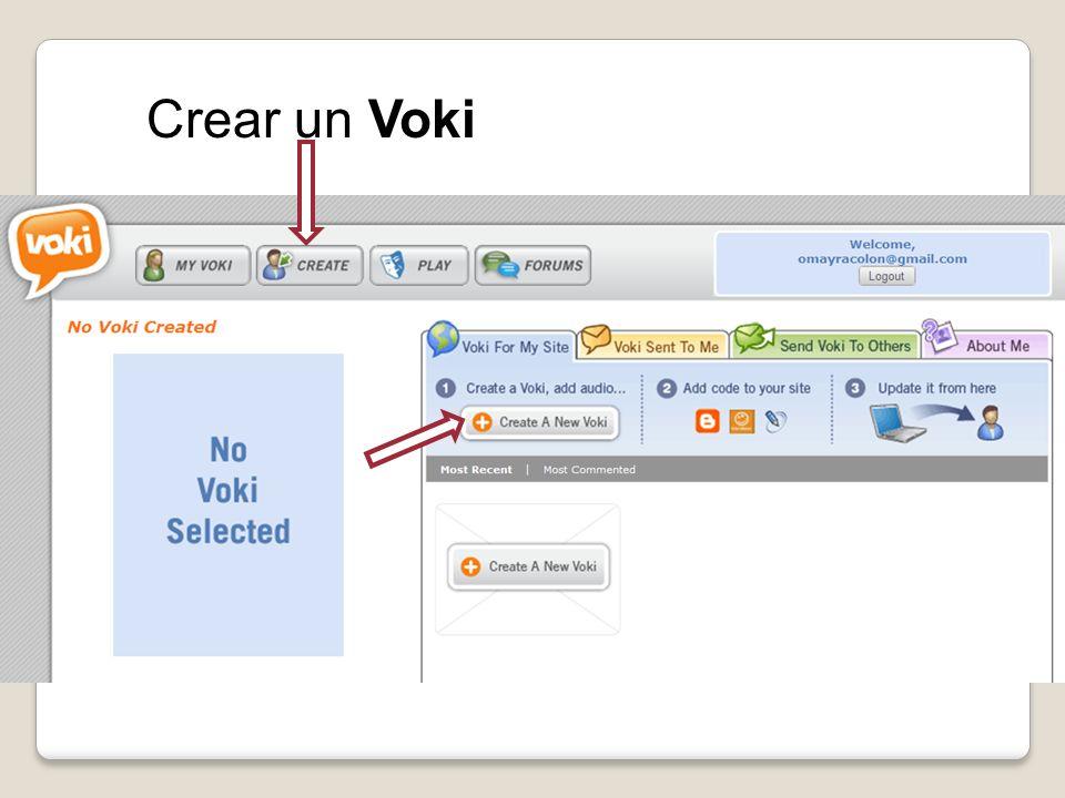 Crear un Voki