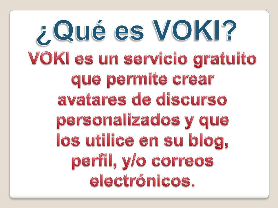Selecciona las características del personaje de Voki. Pelo Barba Boca