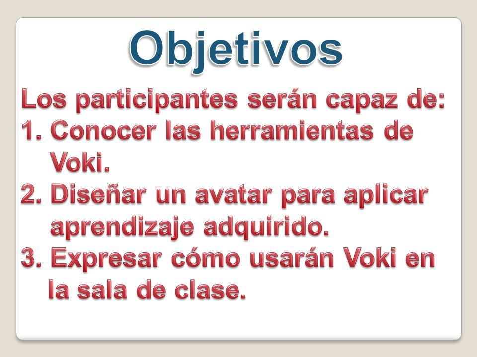 Colocar otro nombre Seleciona el Voki que deseas usar Tamaño Seleciona formato Obtener el código Voki For My Site