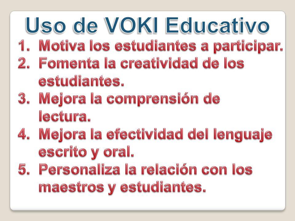 Entrar a las aplicaciones de Twitter Facebook Voki para enviar a mí Enviar a otros y/o amigos Información de la cuenta