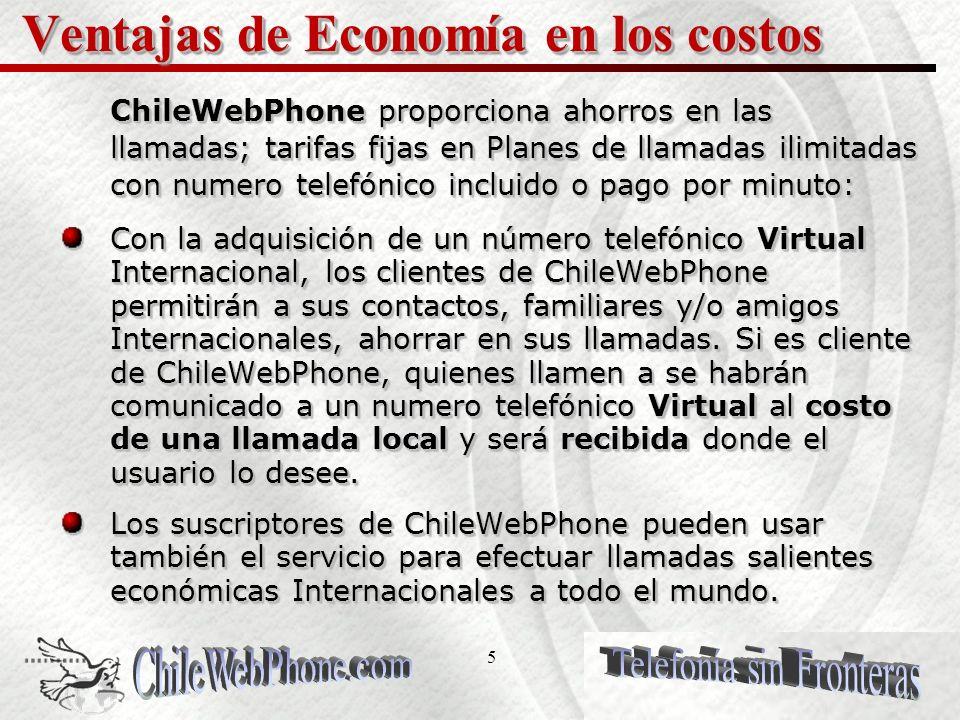 15 FUNCIONES DEL SISTEMA ChileWebPhone vía Internet