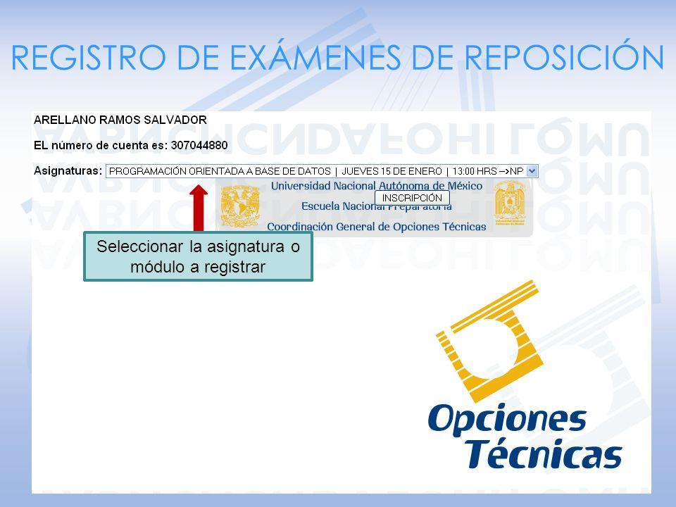 Examenes de repos Seleccionar SOLICITUD DE CARTA DE PRESENTACIÓN