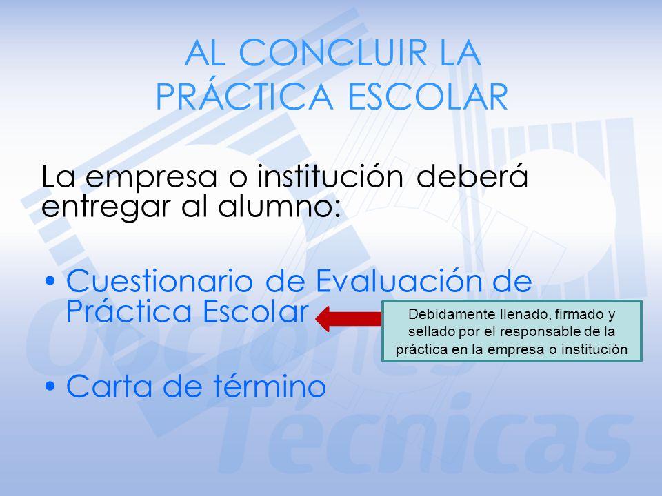Estar en hoja membretada. Estar dirigida a la I.Q. Ángela E. Villanueva Vilchis Coordinadora General de las Opciones Técnicas de la Escuela Nacional P