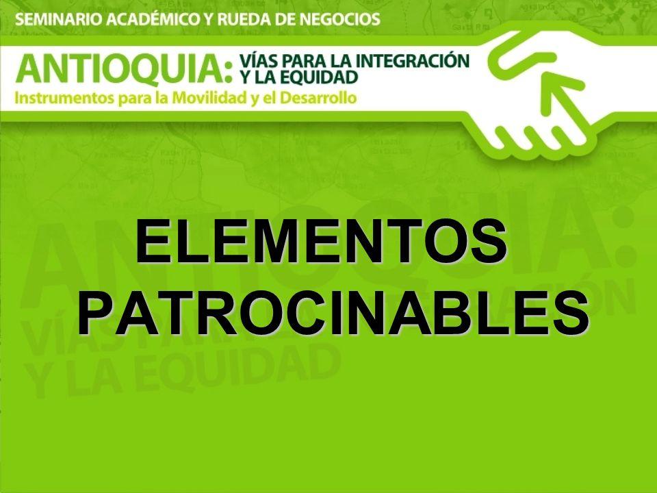 ELEMENTOS PATROCINABLES