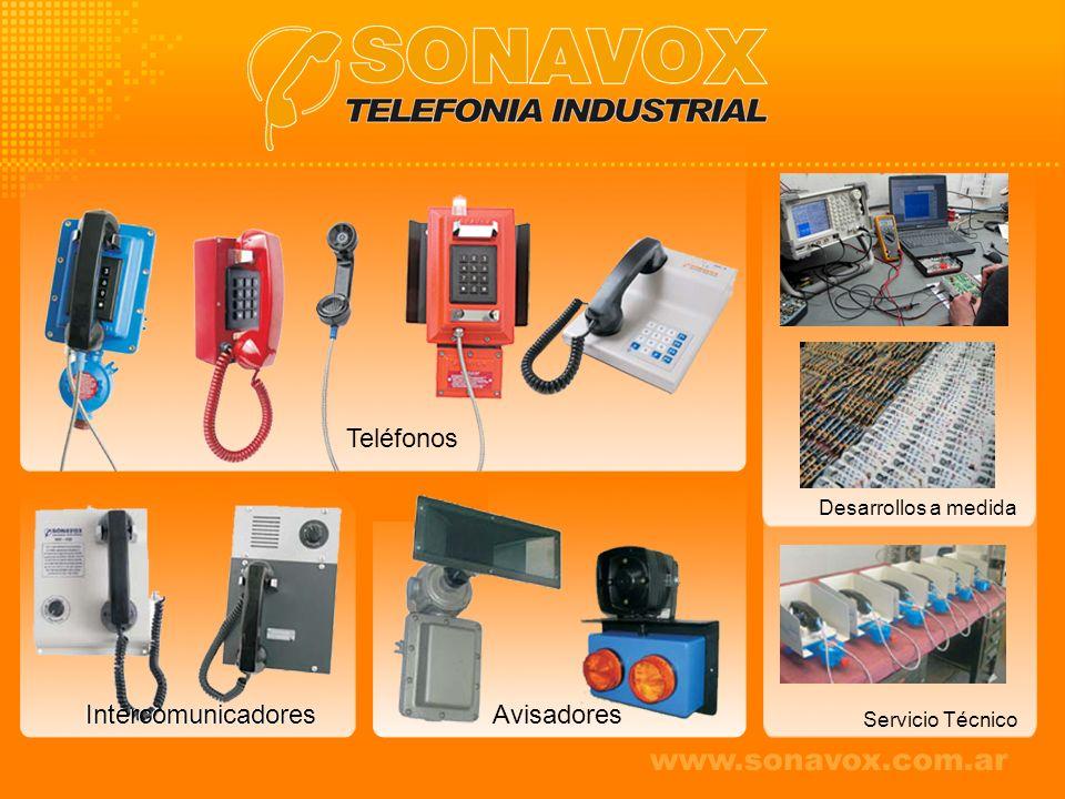Avisadores Teléfonos Desarrollos a medida Servicio Técnico Intercomunicadores