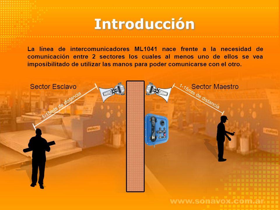 La línea de intercomunicadores ML1041 nace frente a la necesidad de comunicación entre 2 sectores los cuales al menos uno de ellos se vea imposibilitado de utilizar las manos para poder comunicarse con el otro.