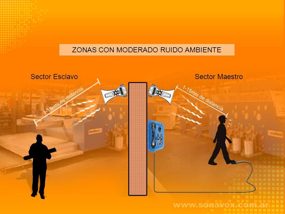 ZONAS CON MODERADO RUIDO AMBIENTE Sector EsclavoSector Maestro