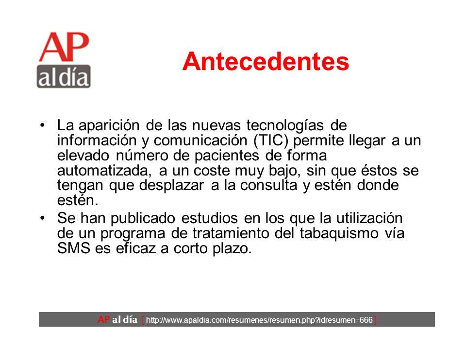 AP al día [ http://www.apaldia.com/resumenes/resumen.php?idresumen=666 ] Antecedentes La aparición de las nuevas tecnologías de información y comunica