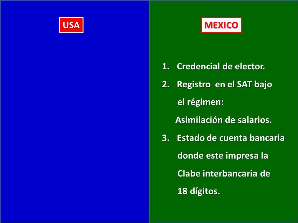 USAMEXICO 1.Credencial de elector.