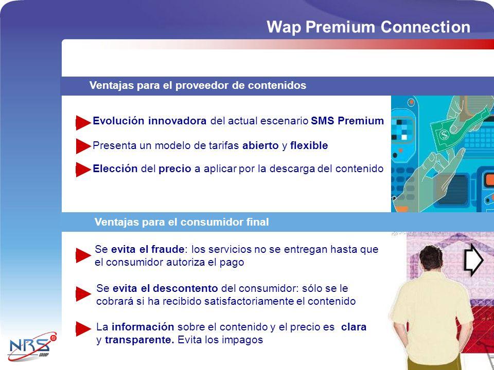 Ventajas para el proveedor de contenidos Ventajas para el consumidor final Evolución innovadora del actual escenario SMS Premium Presenta un modelo de