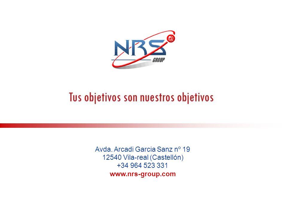 Avda. Arcadi Garcia Sanz nº 19 12540 Vila-real (Castellón) +34 964 523 331 www.nrs-group.com