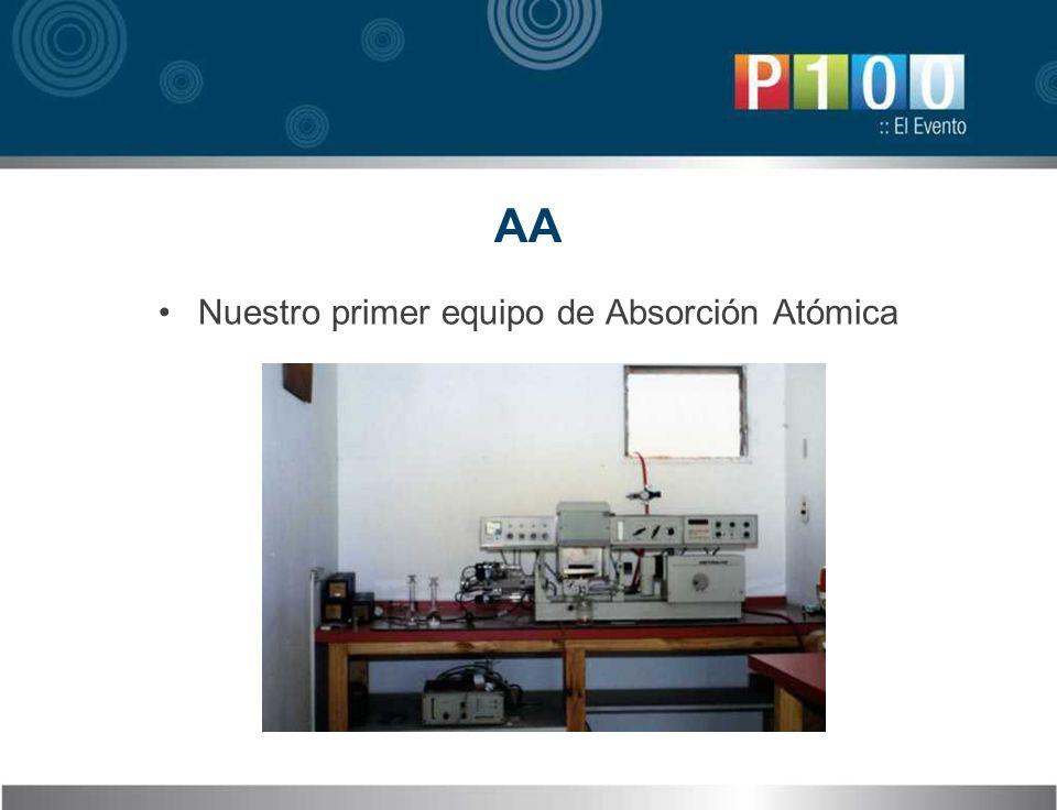 Nuestro primer equipo de Absorción Atómica AA