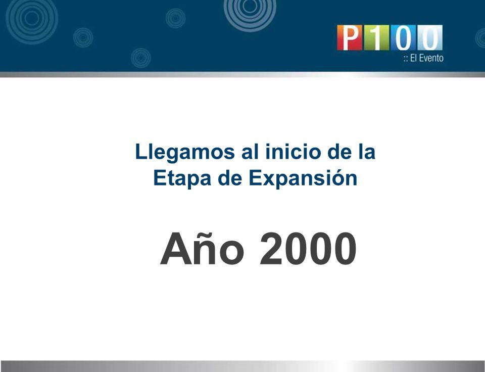 Llegamos al inicio de la Etapa de Expansión Año 2000