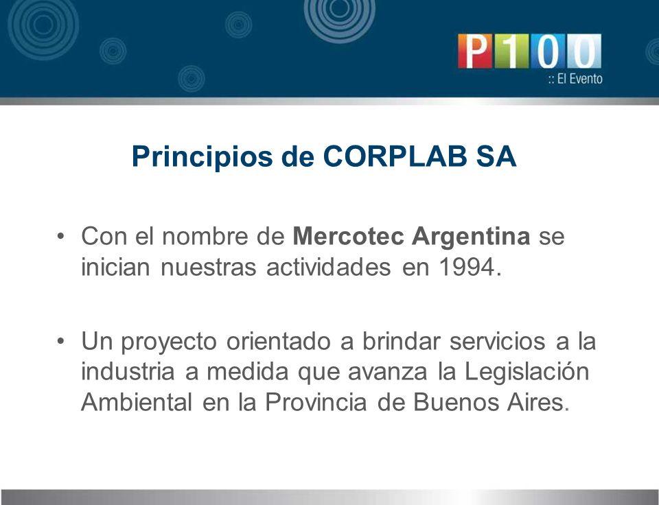 Con el nombre de Mercotec Argentina se inician nuestras actividades en 1994. Un proyecto orientado a brindar servicios a la industria a medida que ava