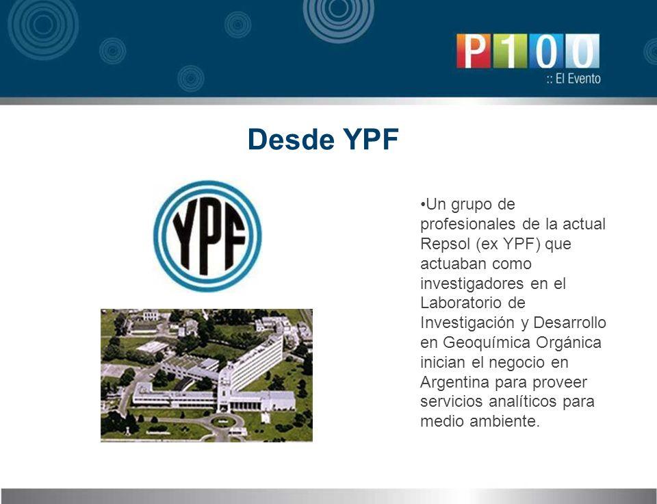 Desde YPF Un grupo de profesionales de la actual Repsol (ex YPF) que actuaban como investigadores en el Laboratorio de Investigación y Desarrollo en G