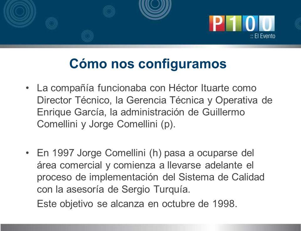 Cómo nos configuramos La compañía funcionaba con Héctor Ituarte como Director Técnico, la Gerencia Técnica y Operativa de Enrique García, la administr