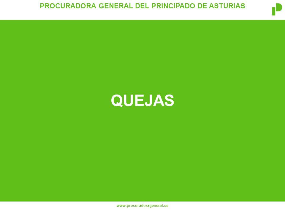PROCURADORA GENERAL DEL PRINCIPADO DE ASTURIAS www.procuradorageneral.es QUEJAS