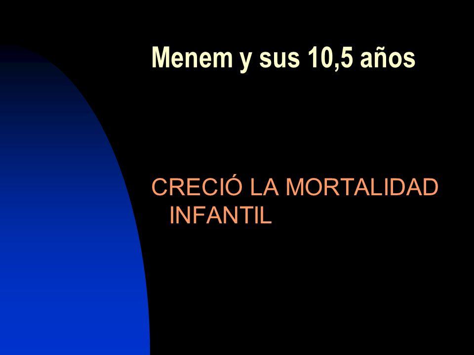 Menem y sus 10,5 años CRECIÓ LA MORTALIDAD INFANTIL