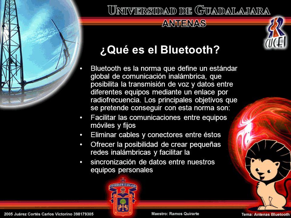 Bluetooth es la norma que define un estándar global de comunicación inalámbrica, que posibilita la transmisión de voz y datos entre diferentes equipos