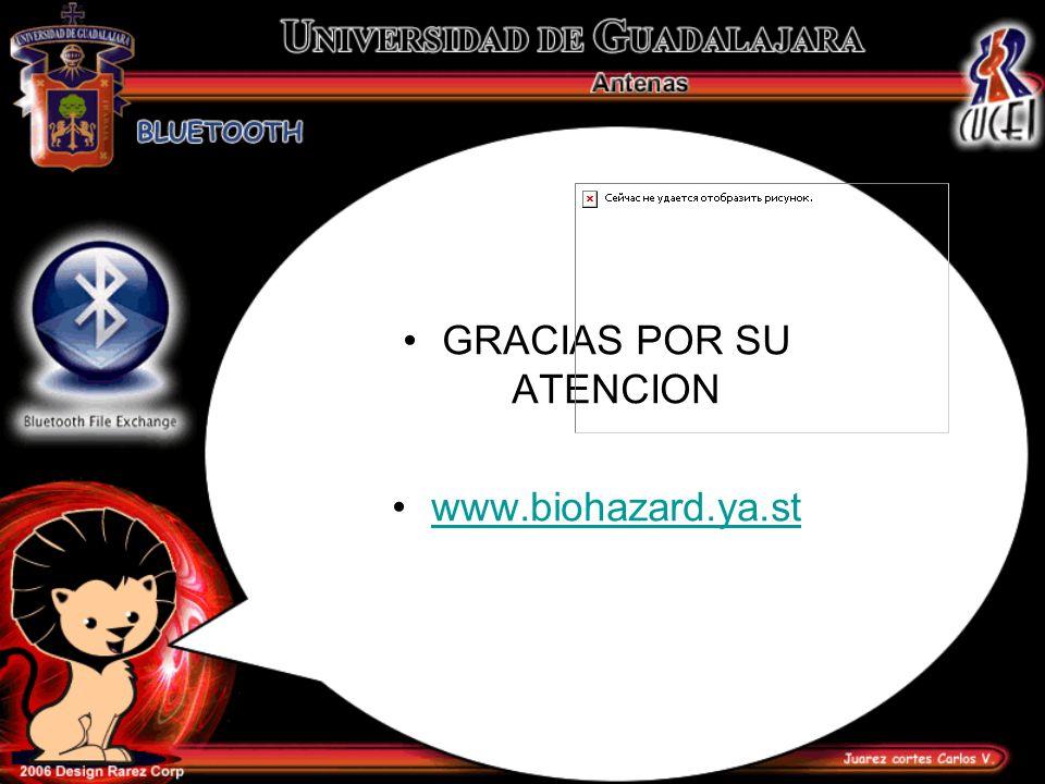 GRACIAS POR SU ATENCION www.biohazard.ya.st