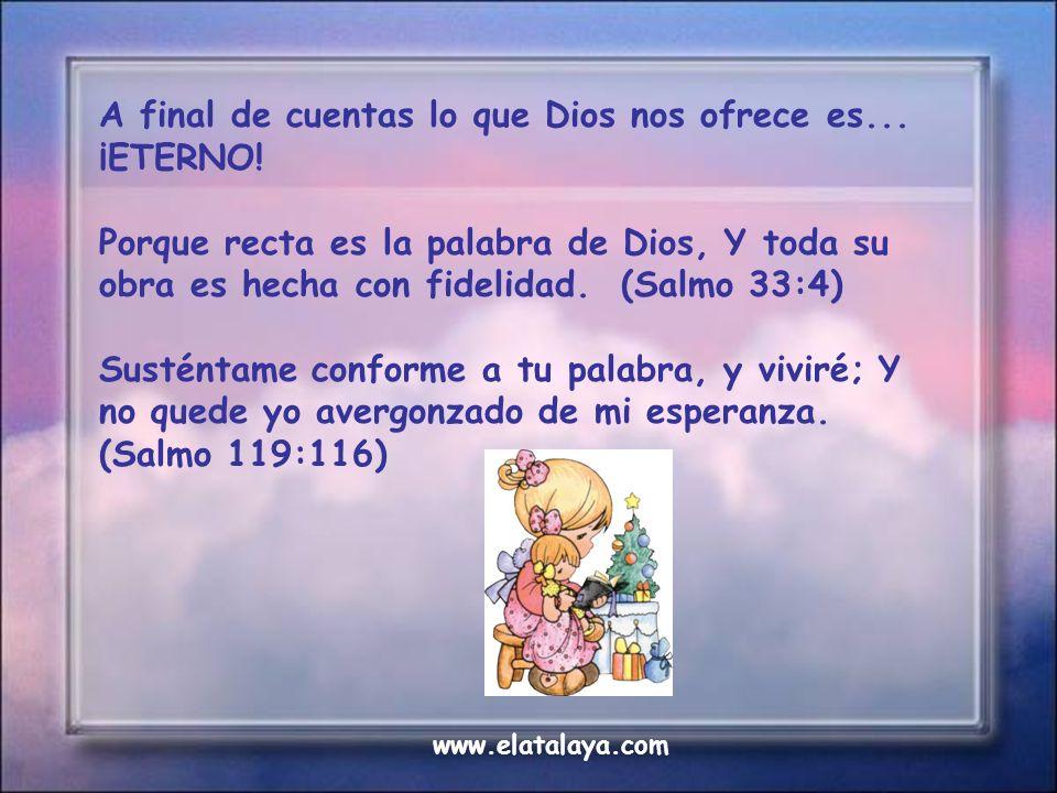 La Biblia está eternamente cargada. Nunca tiene que ser recargada. Lo que perdemos de vivir en obediencia a Dios, no podemos compensarlo jamás. De all