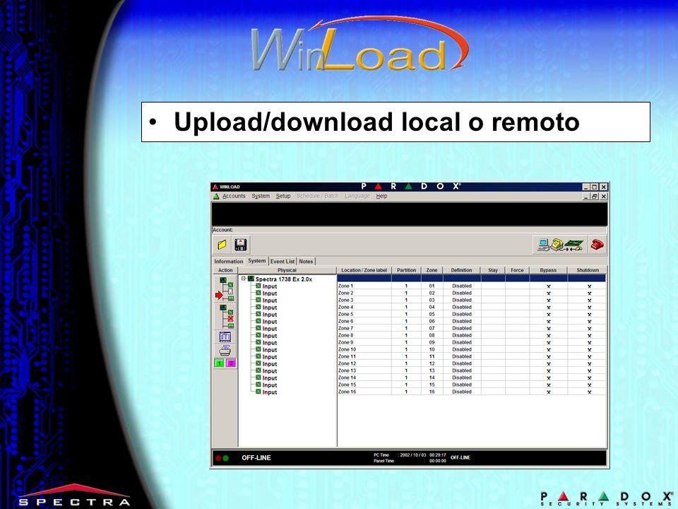 Upload/download local o remoto