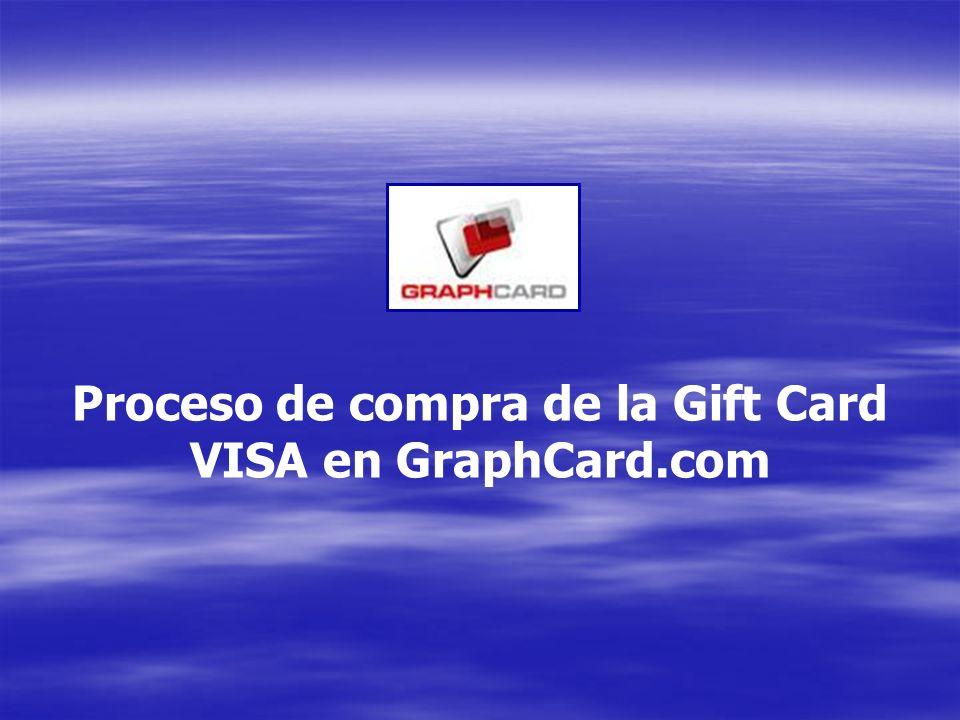 Proceso de compra de la Gift Card VISA en GraphCard.com