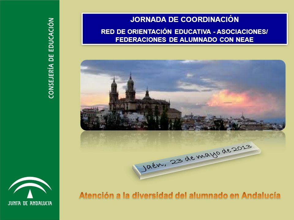texto JORNADA DE COORDINACIÓN RED DE ORIENTACIÓN EDUCATIVA - ASOCIACIONES/ FEDERACIONES DE ALUMNADO CON NEAE