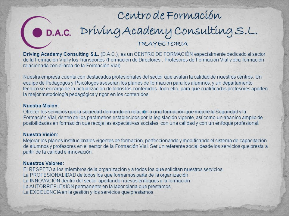 TRAYECTORIA Driving Academy Consulting S.L.
