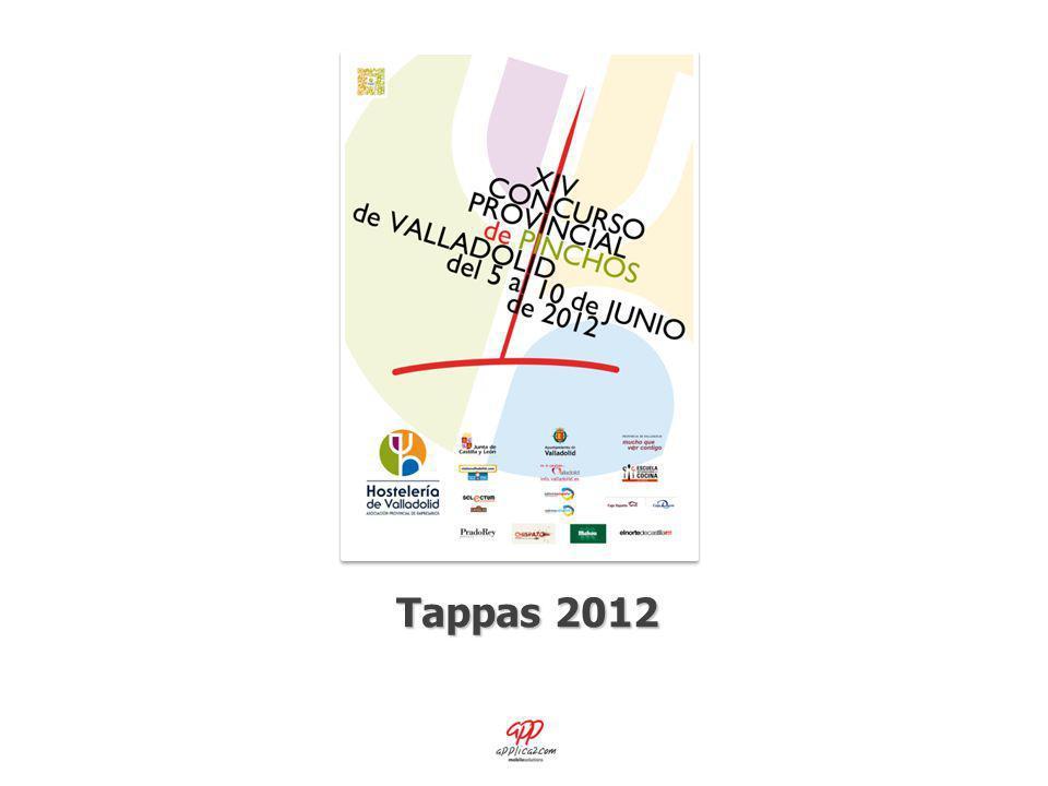 Tappas 2012 D ETALLE DEL P INCHO P ROBADO Datos y foto del pincho seleccionado, la puntuación realizada por uno mismo, junto con los comentarios y la fecha de realización de los mismos.