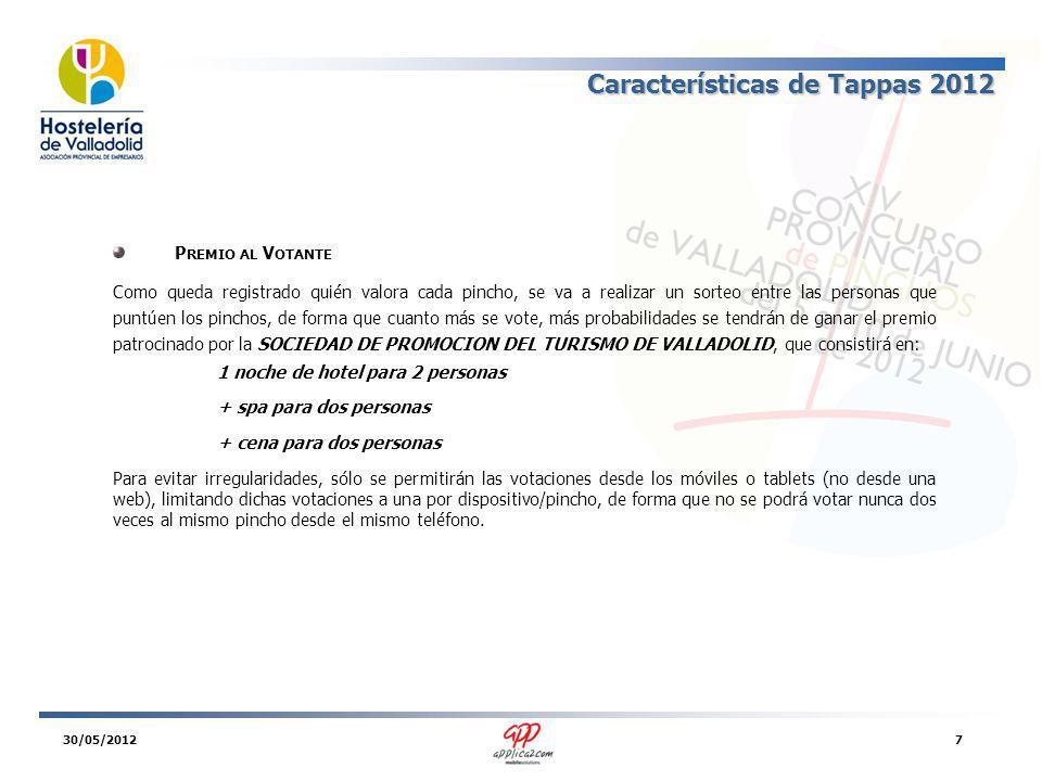 Instalación Tappas 2012 P OR C ÓDIGO BIDI La aplicación será gratuita para los consumidores finales y la forma de instalarse será muy sencilla: tanto en los carteles de anuncio del concurso como en los folletos aparecerá este código BIDI o QR.