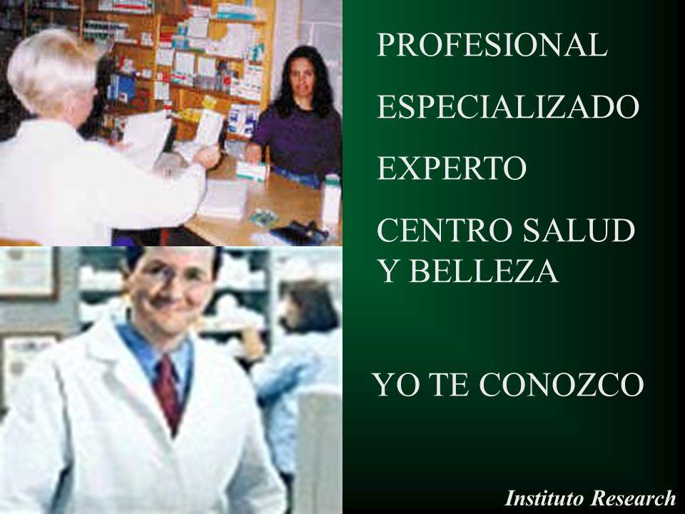 PROFESIONAL ESPECIALIZADO EXPERTO CENTRO SALUD Y BELLEZA YO TE CONOZCO Instituto Research
