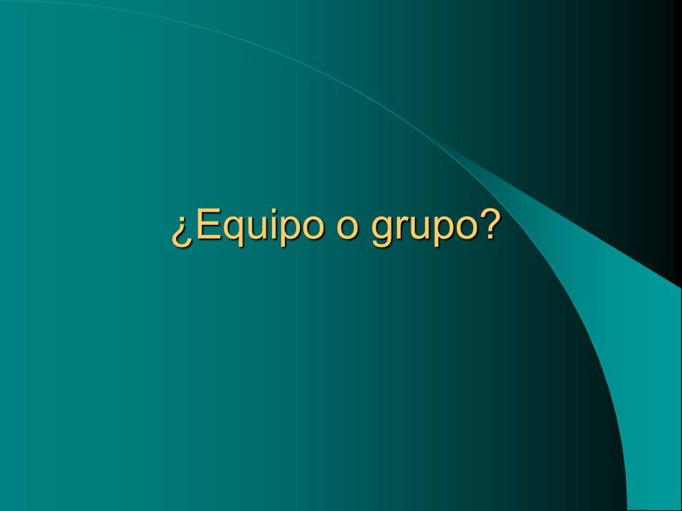 ¿Equipo o grupo?