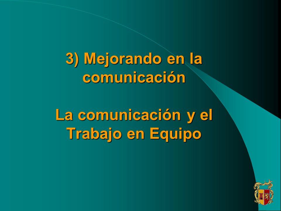 3) Mejorando en la comunicación La comunicación y el Trabajo en Equipo